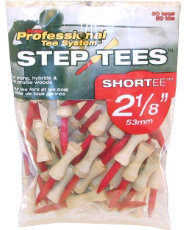"Pride Professional PTS 2 1/8"" Step Tees - 50 count"