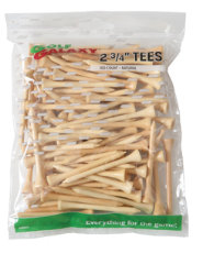 "Golf Galaxy 2 3/4"" Natural Golf Tees - 100 Count"