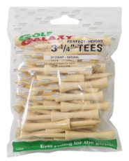 "Golf Galaxy 3 1/4"" Perfect Height Natural Golf Tees - 30 Count"