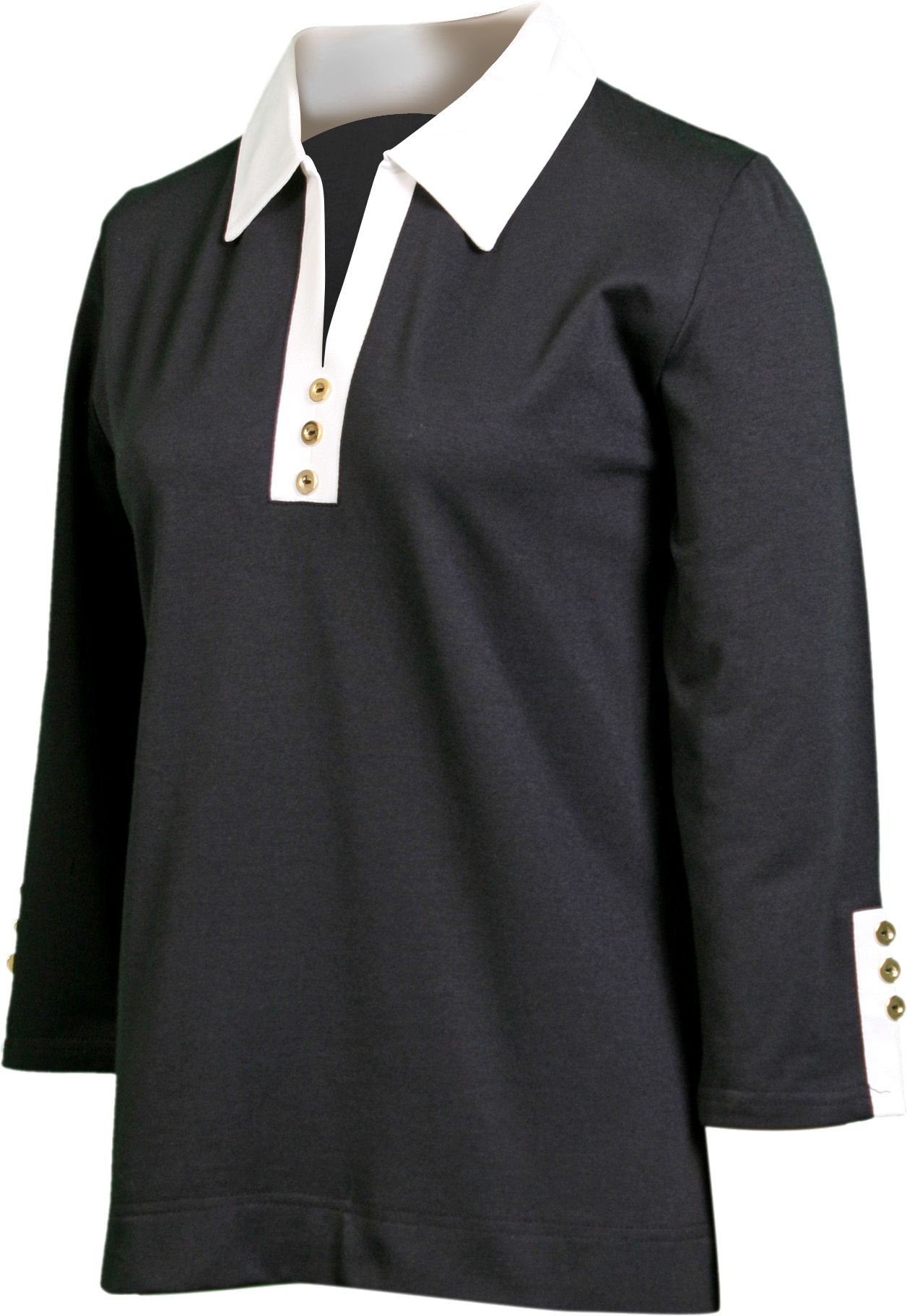 Sport Haley Women's 3/4 Sleeve Polo with Contrast Trim