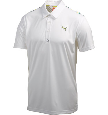 PUMA Men's D1 Yoke Graphic Short Sleeve Polo