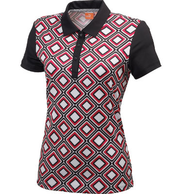 PUMA Women's Tile Pattern Short Sleeve Polo
