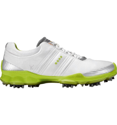 ECCO Men's Biom Golf Shoes -White/Lime