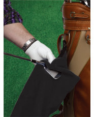 Golf Galaxy Black Microfiber Towel