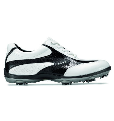 ECCO Women's Casual Cool Golf Shoes - White/Black