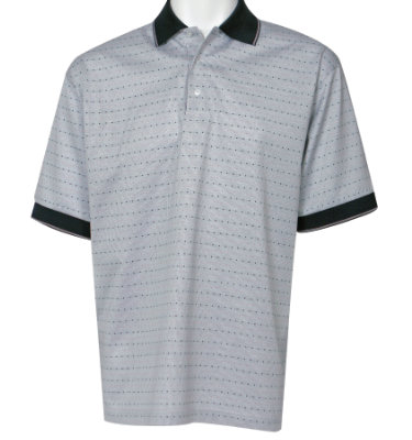 Marbas 2013 Collection Blue Gray Golf Ball Pattern Polo Golf Shirt