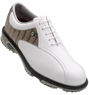 FootJoy Men's DryJoys Tour Bike Toe Golf Shoes - White/Slate (Disc Style 53643)
