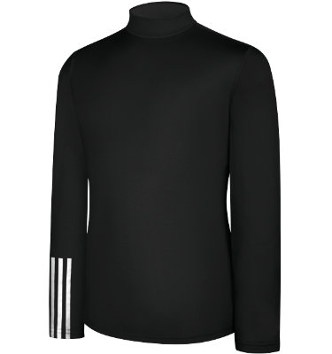 adidas Men's CLIMALITE Thermal Compression 3-Stripes Mock Neck Shirt