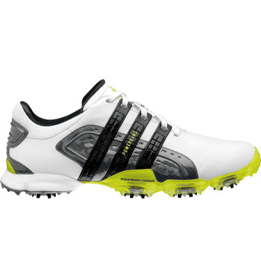 adidas Men's Powerband 4.0 Golf Shoe - White/Slime/Black