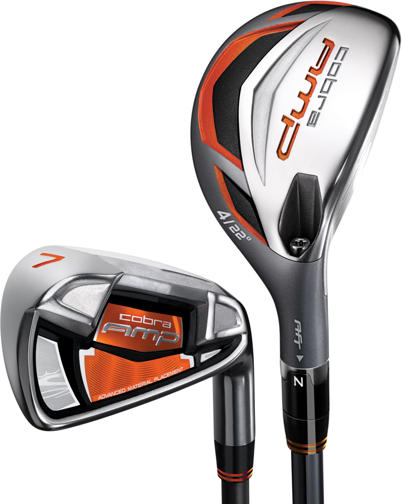 Cobra Men's AMP Hybrid/Irons - (Graphite) 3-4H, 5-PW