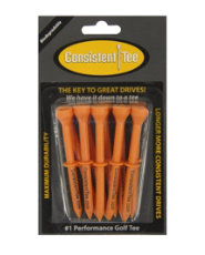 "Consistent-Tee 3 ¼"" Orange Golf Tees - 10 count"