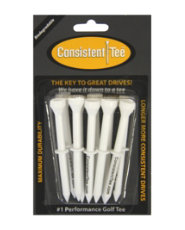 "Consistent-Tee 3 ¼"" White Golf Tees - 10 count"