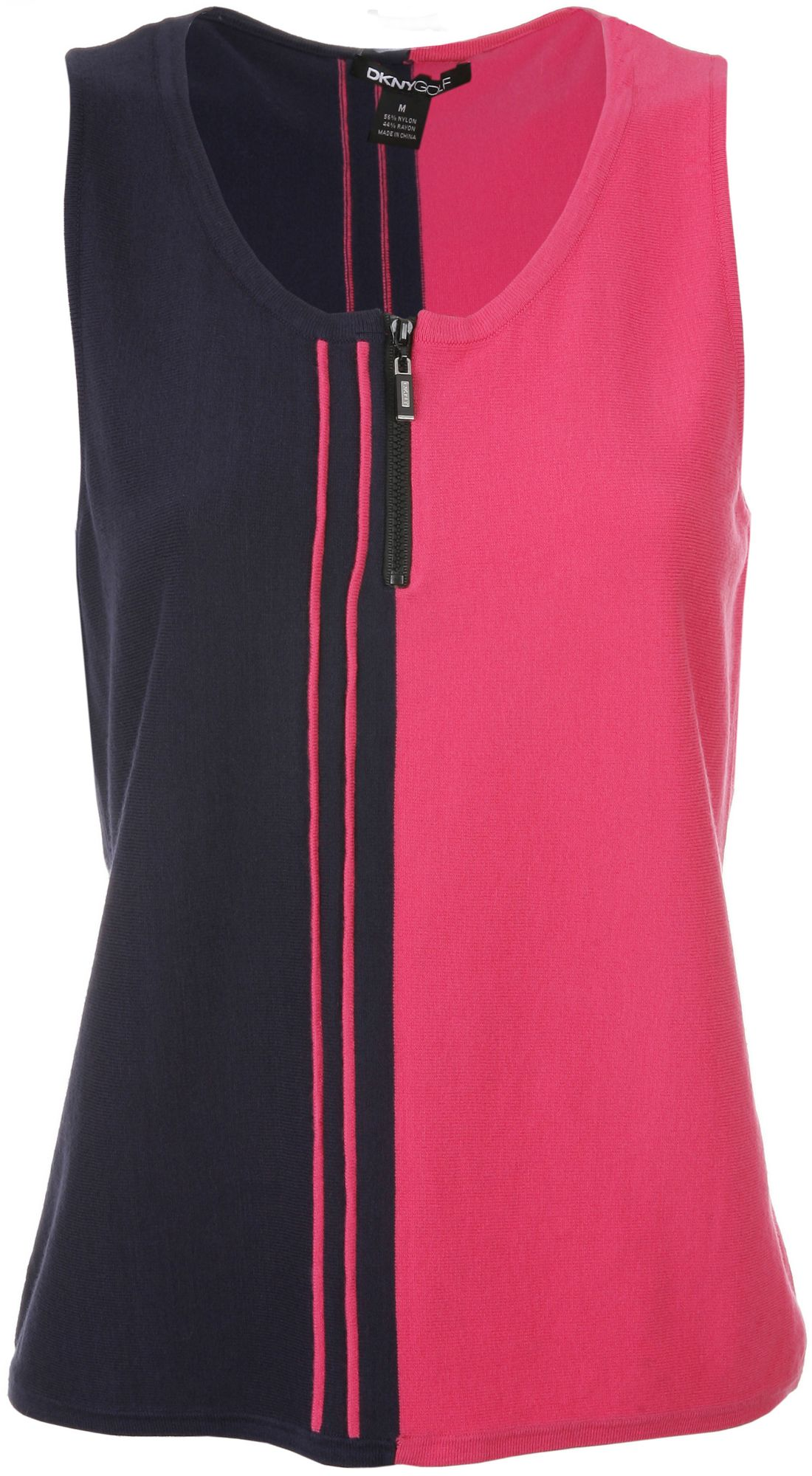 DKNY Women's Vivid and Twilight Vertical Stripe Sleeveless Sweater