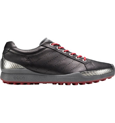 ECCO Men's BIOM Hybrid Golf Shoe - Black/Brick