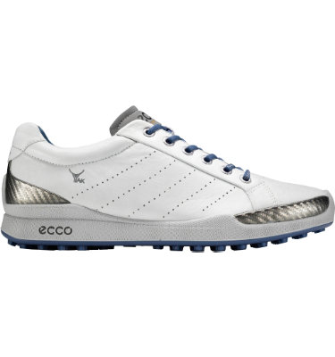 ECCO Men's BIOM Hybrid Golf Shoe - White/Royal