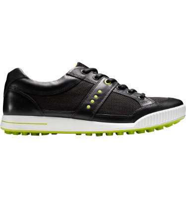 ECCO Men's Street Textile Golf Shoe - Black/Black