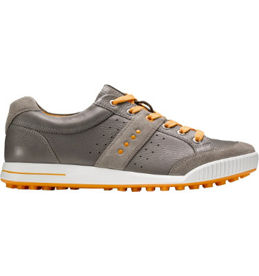 ECCO Men's Street Premiere Golf Shoe - Warm Grey/Fanta