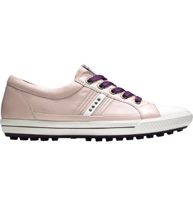 ECCO Women's Street Premiere Golf Shoe - White/Pale Lilac