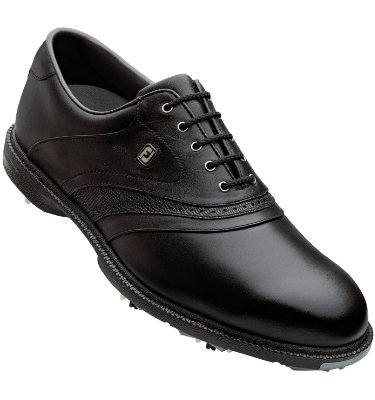 FootJoy Men's SuperLites Golf Shoe - Black/Black (Disc Style 58166)