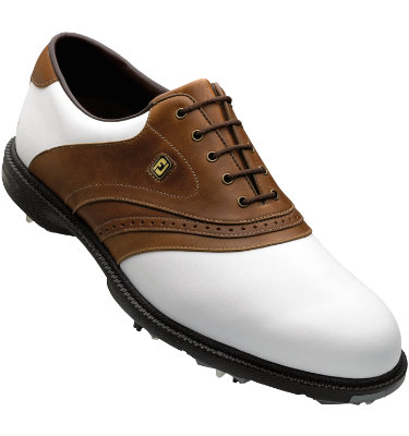 FootJoy Men's SuperLites Golf Shoe - White/Tan
