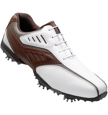 FootJoy Men's Street Golf Shoe - White/Brown (Disc Style 56460)