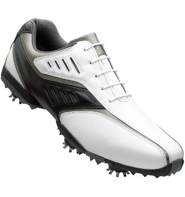 FootJoy Men's Street Golf Shoe – White/Black/Silver (Disc Style 56478)