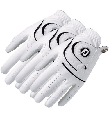 FootJoy Men's WeatherSof 3-Pack Golf Glove - White