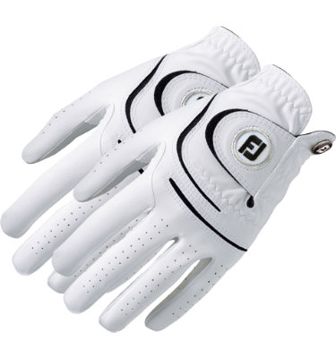 FootJoy Women's 2-Pack WeatherSof Golf Glove - White/ Pink