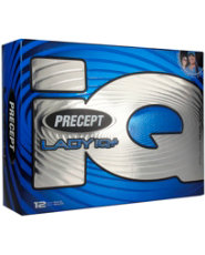 Precept Lady iQ Plus White Golf Balls 2012 - 12 pack (Personalized)