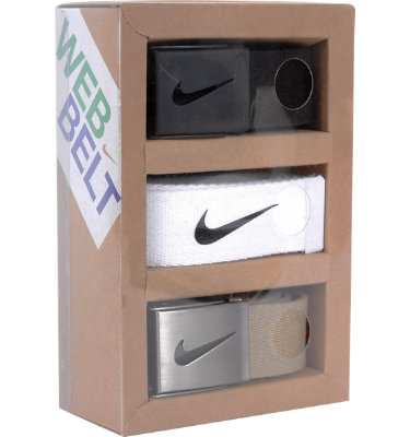 Nike Men's Tech Essentials 3 Pack Belt