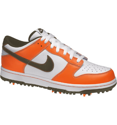 Nike Men's Dunk Golf Shoe - White/Cargo Khaki/Safety Orange
