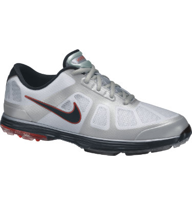 Nike Men's Lunar Ascend Golf Shoe - White/Black/Action Red/Granite