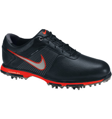 Nike Men's Lunar Control Golf Shoe - Black/Metallic Silver/Challenge Red