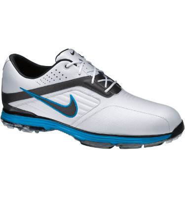 Nike Men's Lunar Prevail Golf Shoe - White/Metallic Dark Grey/Neptune Blue