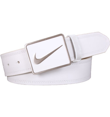 Nike Men's Swoosh Icon Enamel Plaque Belt