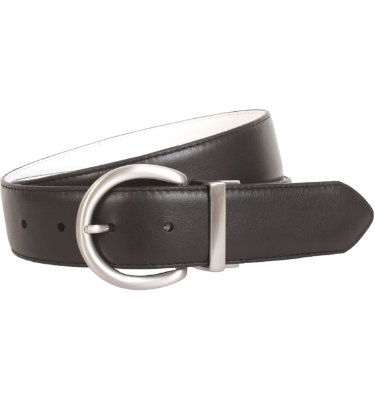 Nike Women's Wide Reversible Black and White Belt