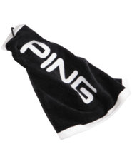 PING Tri-Fold Towel - Black/White