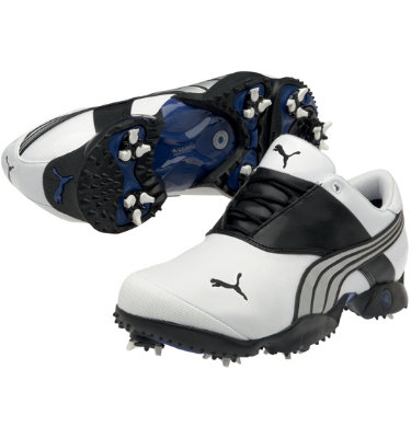 PUMA Men's Jigg Golf Shoe - White/Black/PUMA Silver