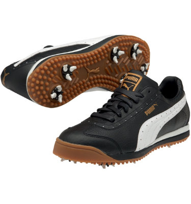 PUMA Men's PG Roma Golf Shoe - Black/White