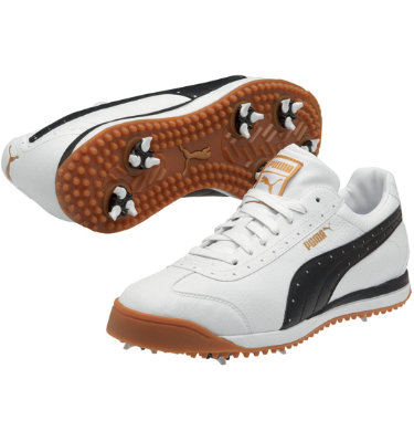 PUMA Men's PG Roma Golf Shoe - White/Black