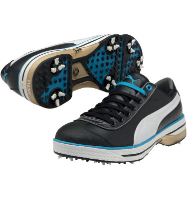 PUMA Men's Club 917 Golf Shoe - Black/White/Blue