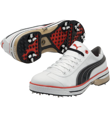 PUMA Men's Club 917 Golf Shoe - White/Black/Red