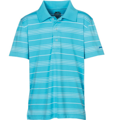 Slazenger Boys' Morgan Stripe Short Sleeve Polo