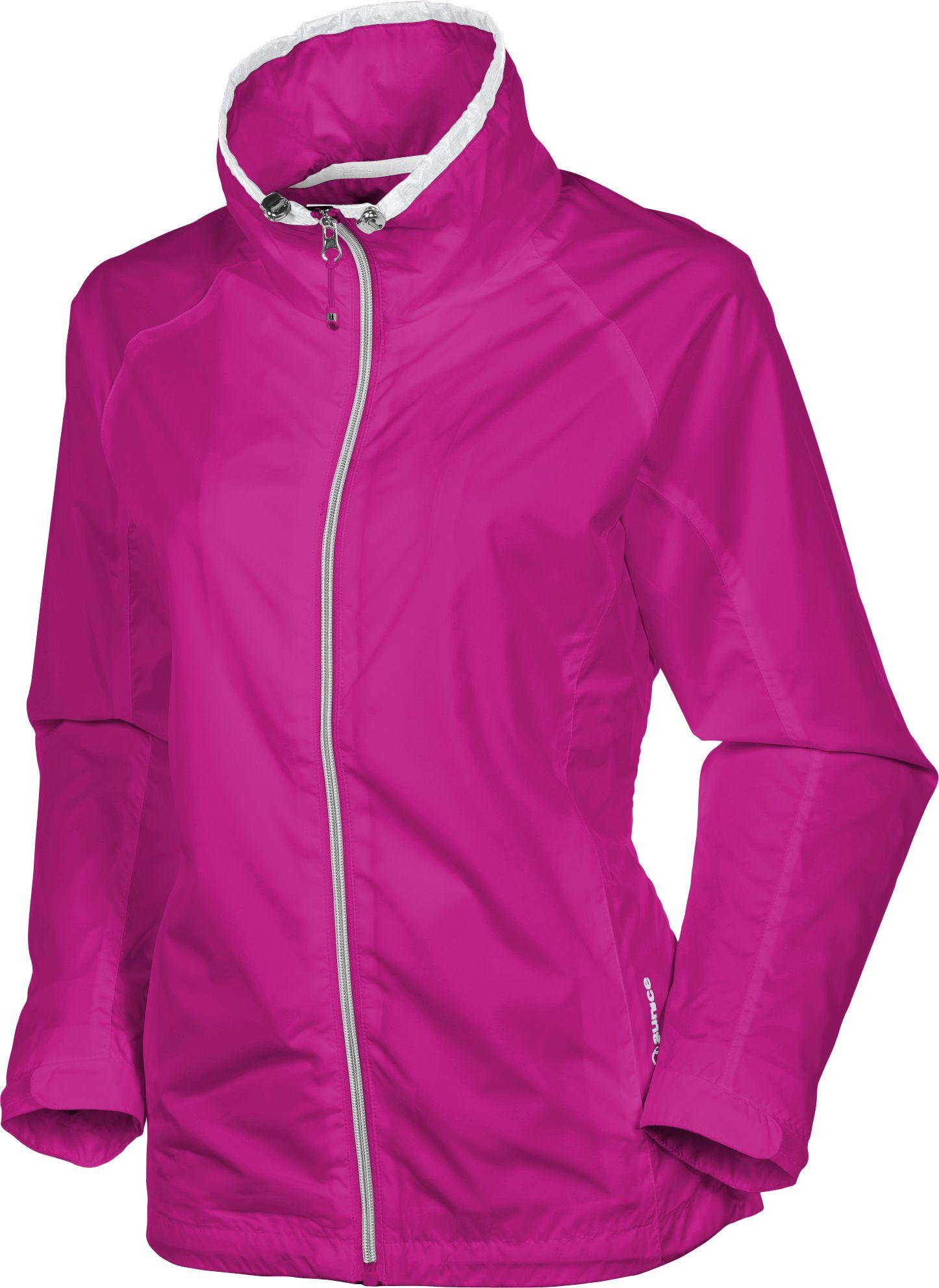 Sunice Women's Bella Full Zip Plaid Wind Long Sleeve Jacket