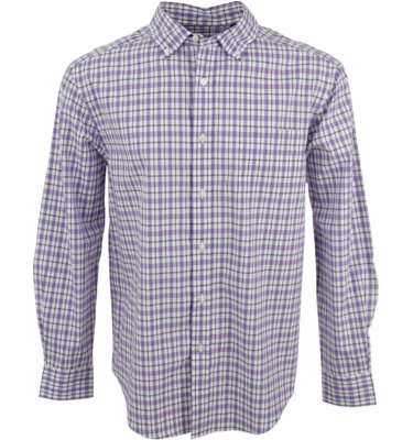 Walter Hagen Collection Men's 3-Color Plaid Long Sleeve Sport Shirt