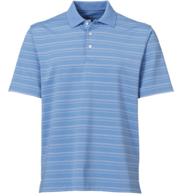 Walter Hagen Men's Textured Stack Stripe Short Sleeve Polo