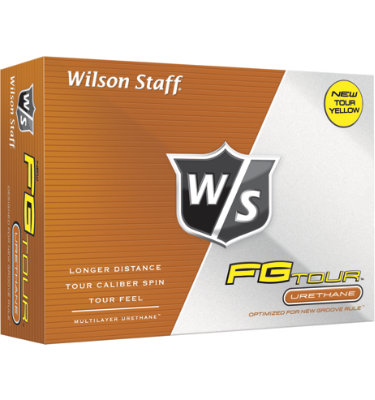 Wilson Staff FG Tour Yellow Golf Balls - 12 pack