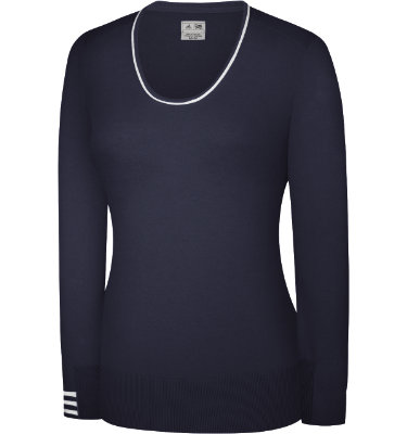 adidas Women's 3-Stripes Scoop Neck Sweater