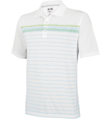 adidas Men's CLIMACOOL WB Engineered Stripe Short Sleeve Polo