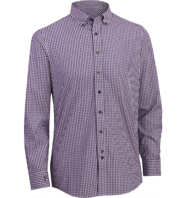 Ashworth Men's Multi-Check Woven Long Sleeve Shirt